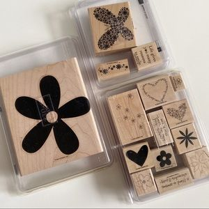 STAMPIN UP Flower Stamp Sets Floral Hearts